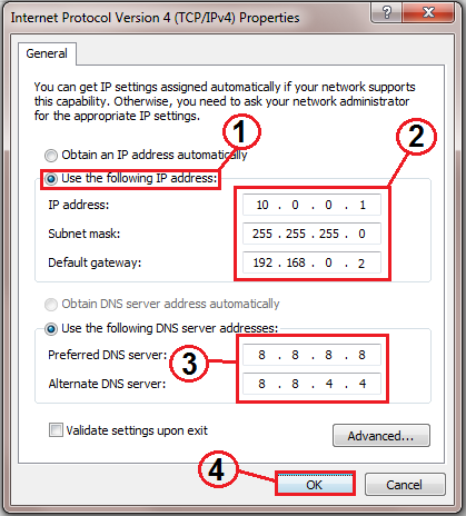 how do i change my ip address on my dell laptop