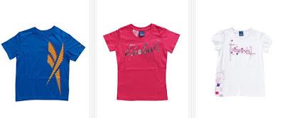 Algunas de las camisetas para niños y niñas disponibles