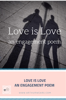 love is love an LGBTQ  engagement poem pin