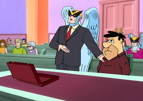 Former Superhero Turned Lawyer Harvey Birdman Attorney At Law Was Tasked With Defending A Variety Of Hanna Barbera Characters In Legal Cases During