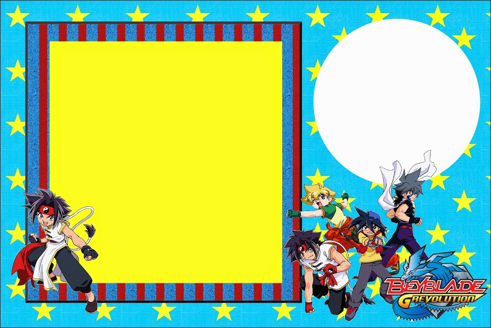 Beyblade: Free Printable Invitations. - Oh My Fiesta! for ...