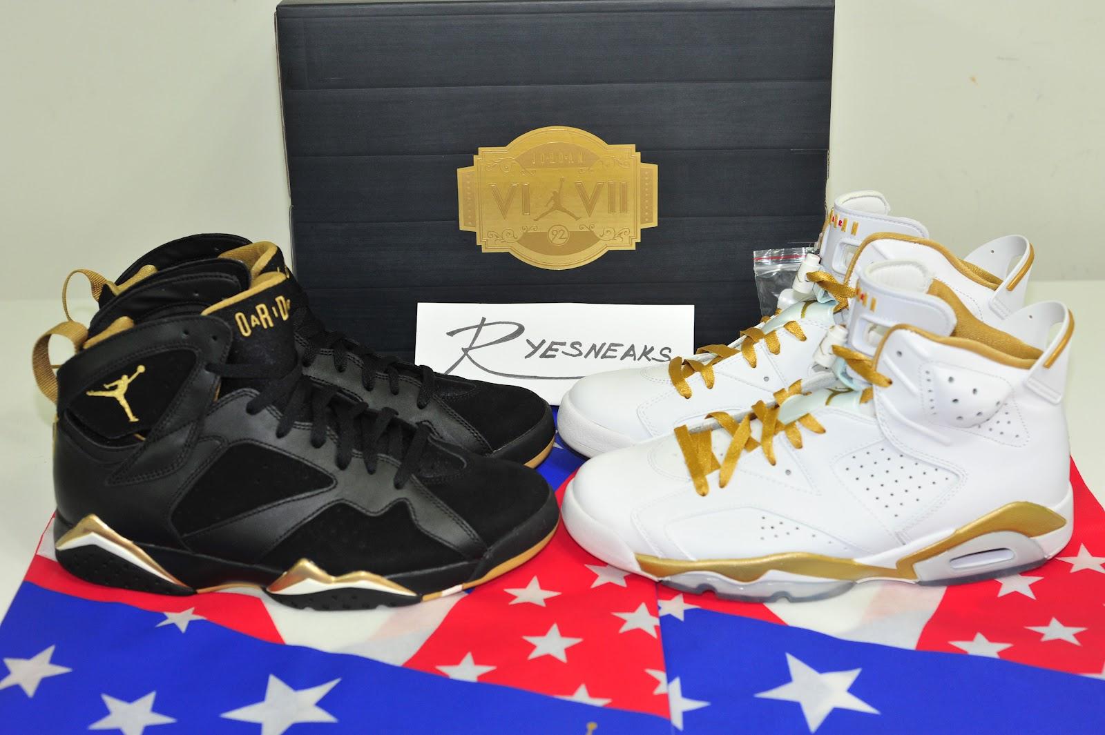 hot sale online 8f568 6b39c Air Jordan VI VII  Golden Moments Pack Multi-Color Multi-Color 535357-935  08 18 12. Retail   350