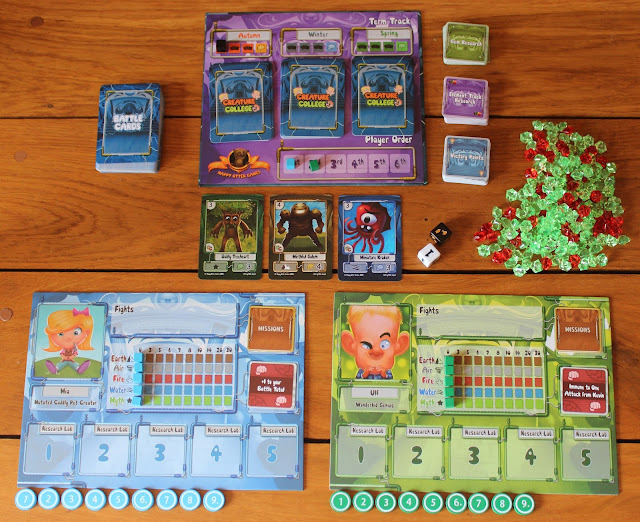 Creature College - game setup