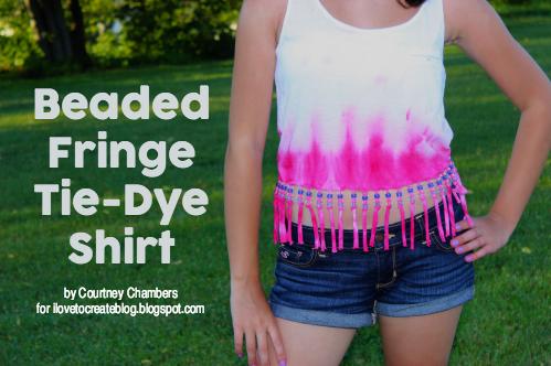 64c28450b233b Beaded Fringe Tie-Dye Shirt   iLoveToCreate
