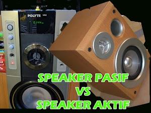 Perbedaan Speaker Pasif dan Speaker Aktif