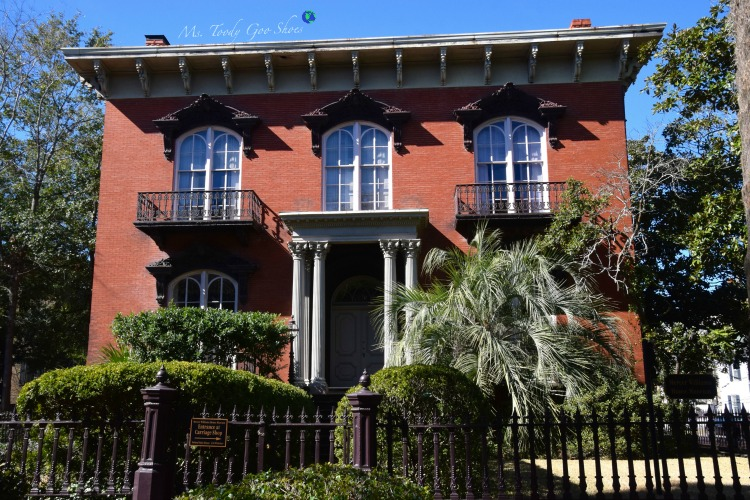 Mercer Williams House:  #5 of 12 Things To Do in 24 Hours in Savannah, GA | Ms. Toody Goo Shoes