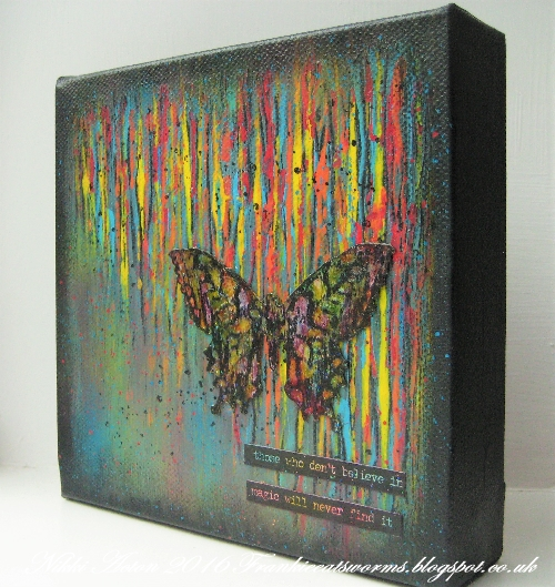 Addicted to Art - Tim Holtz Butterfly Duo - Painted canvas