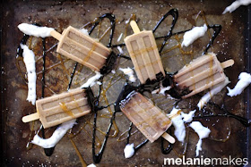 Salted Caramel Mocha Popsicles via Melanie Makes for thefrugalfoodiemama.com