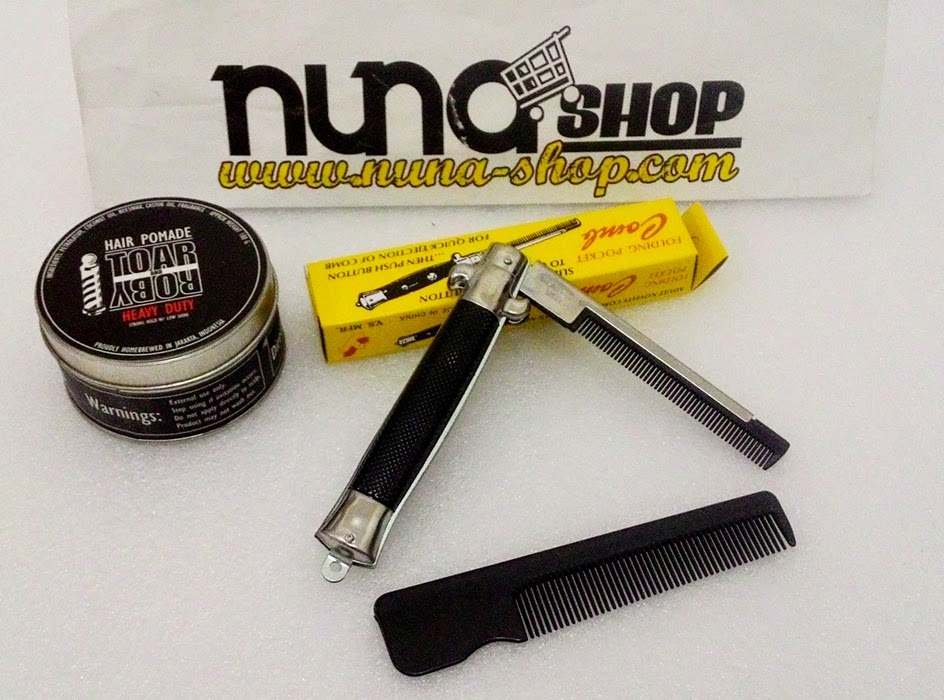 Paket Hemat Pomade Toar And Roby Heavy Duty + Switchblade Comb