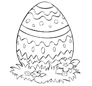 Moldes de ovos da Páscoa para Colorir e Imprimir