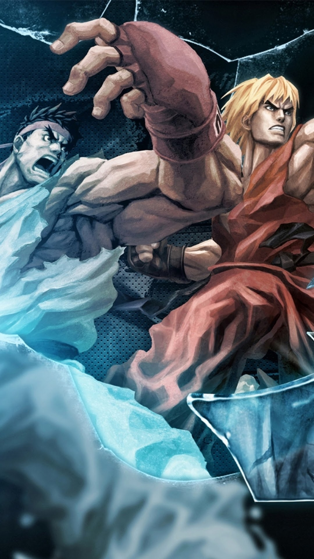 android best wallpapers: tekken x street fighter ryu and ken android