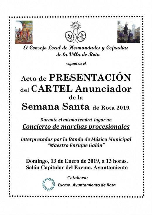 Presentación del cartel oficial de la Semana Santa de Rota 2019