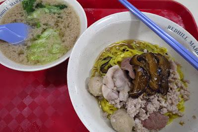 Quan Xiang Mushroom Minced Meat Noodle, Redhill Food Centre