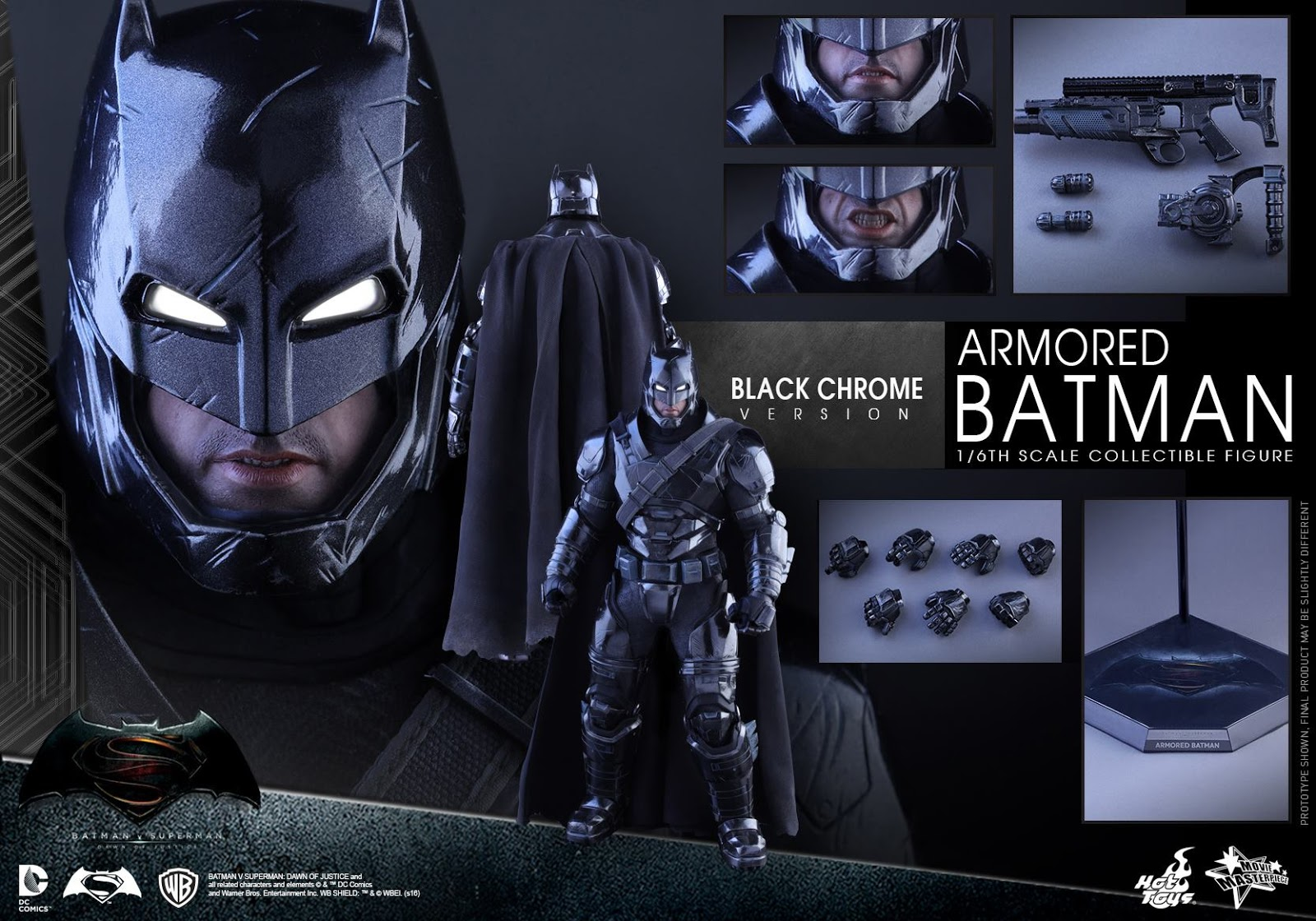 Hot Toys Announces Black Chrome Batman Figure
