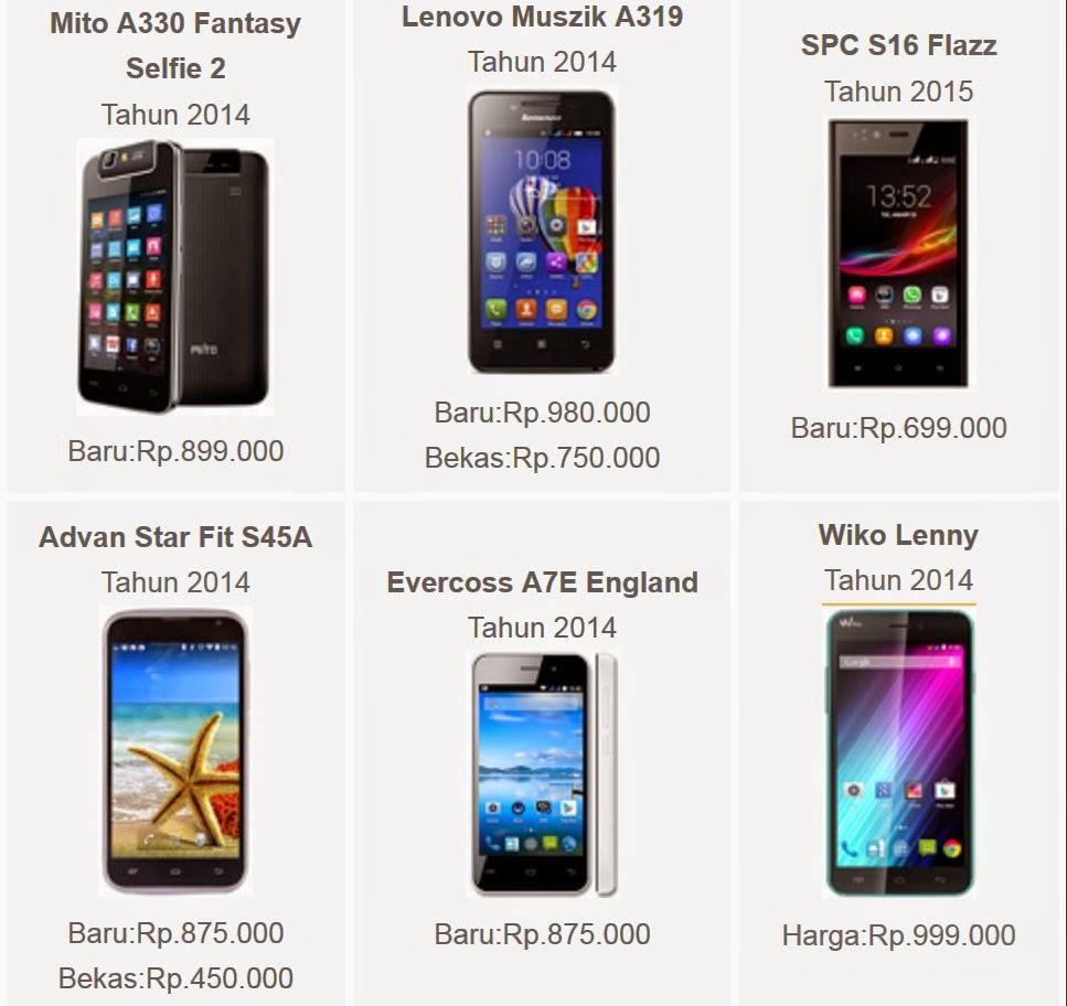 Harga Smartphone HP Android Dibawah 1 Juta Terbaru