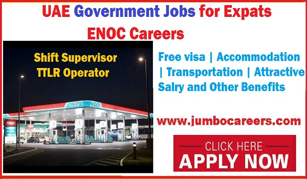ENOC careers jobs 2018, Shift supervisor and TTLR Government jobs, Government jobs,