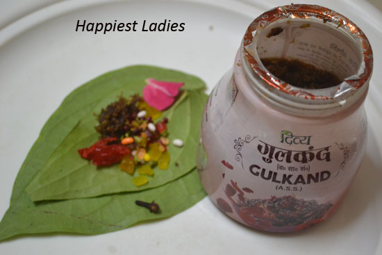 Homemade Sweet Paan/Sweet Betel Leaf