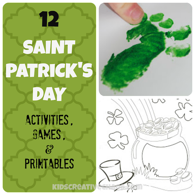 Games, Activities, and Printables for St. Patrick's Day.