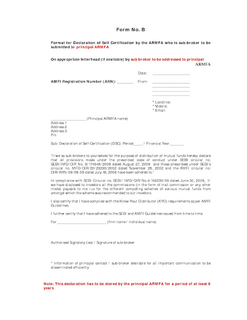 Investing Can be Interesting  Financial Awareness April 2012 - financial declaration form