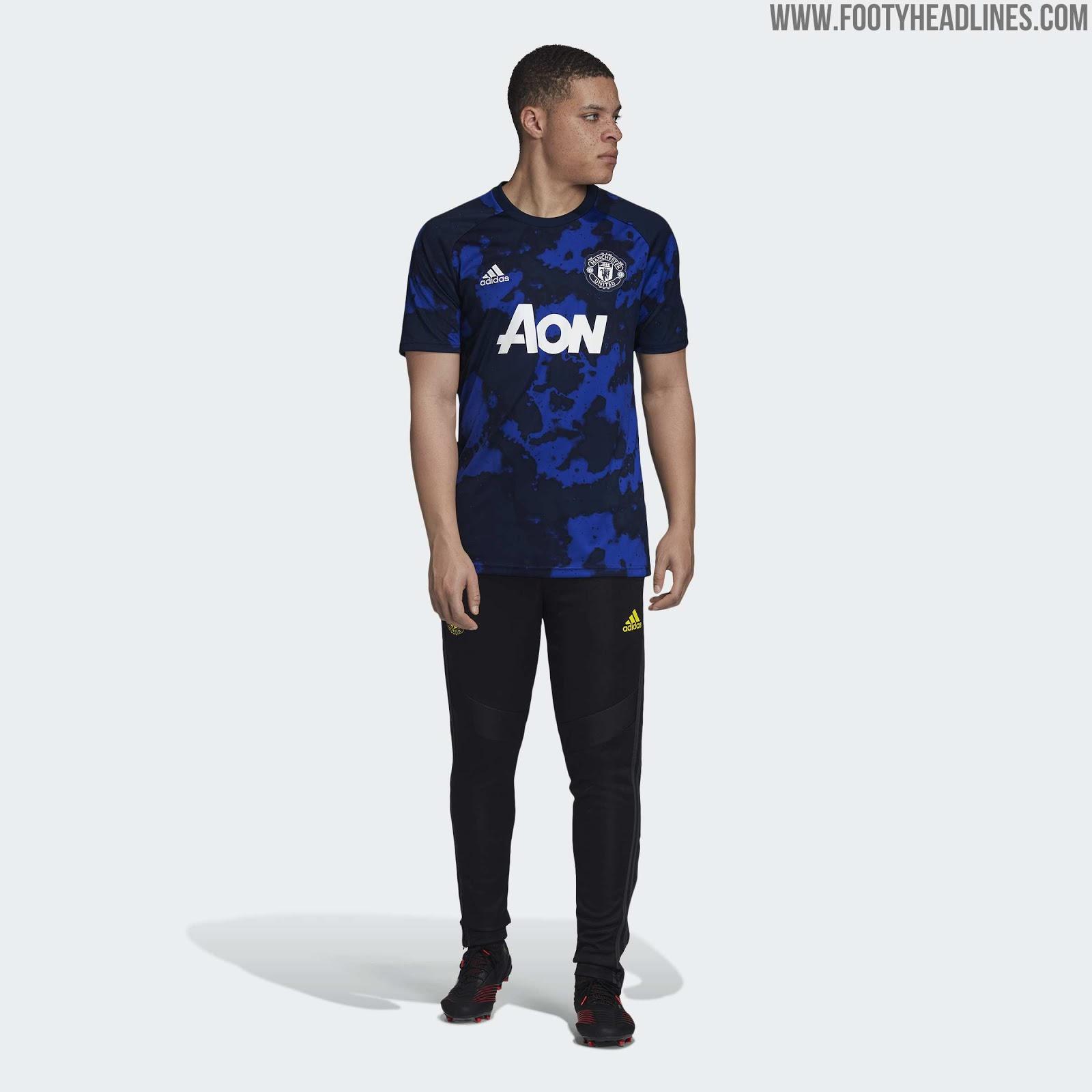 quality design 55277 85a8b Garish: Adidas x Parley Manchester United 19-20 Pre-Match ...