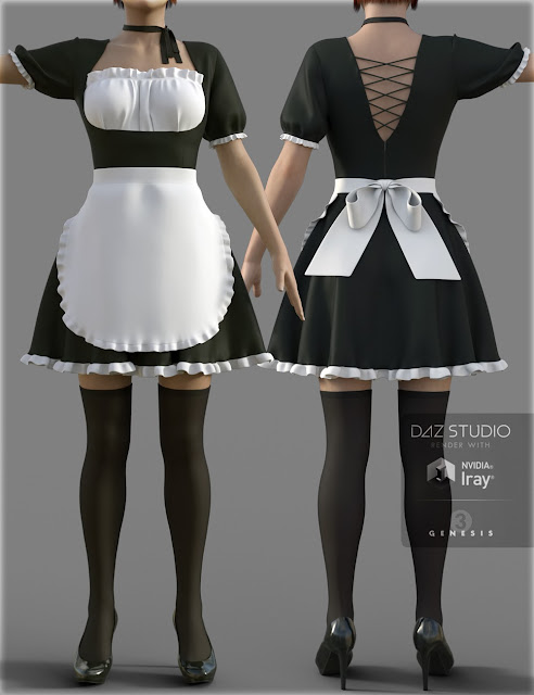 Maid Dress for Genesis 3 Female