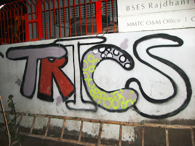 A tag which says TRICS