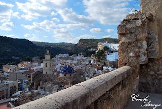 Vistas de la ciudad de Buñol desde el Castillo