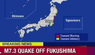Tsunami Warning Follows Earthquake Off Japan's Coast