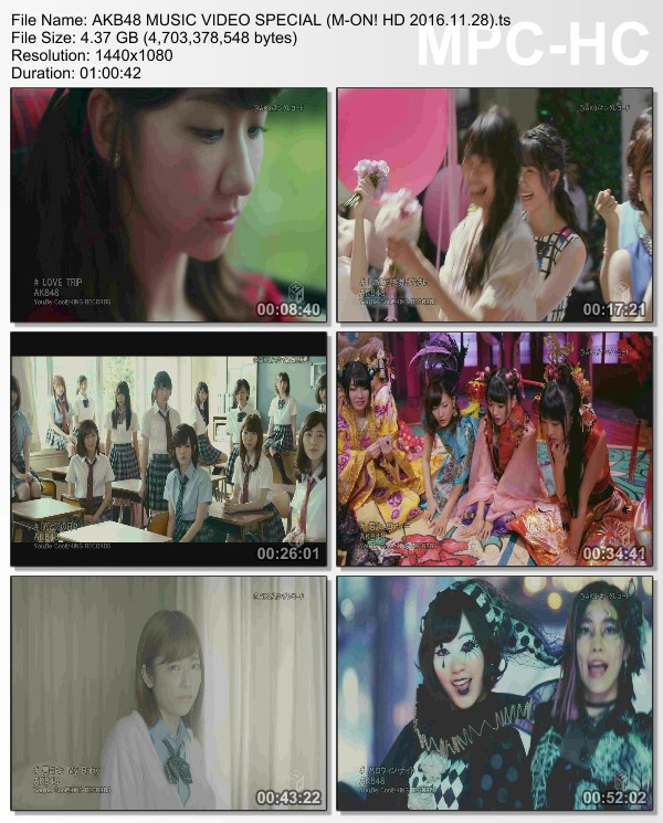 [TV-Variety] AKB48 MV特集 (M-ON! HD 2016.11.28)
