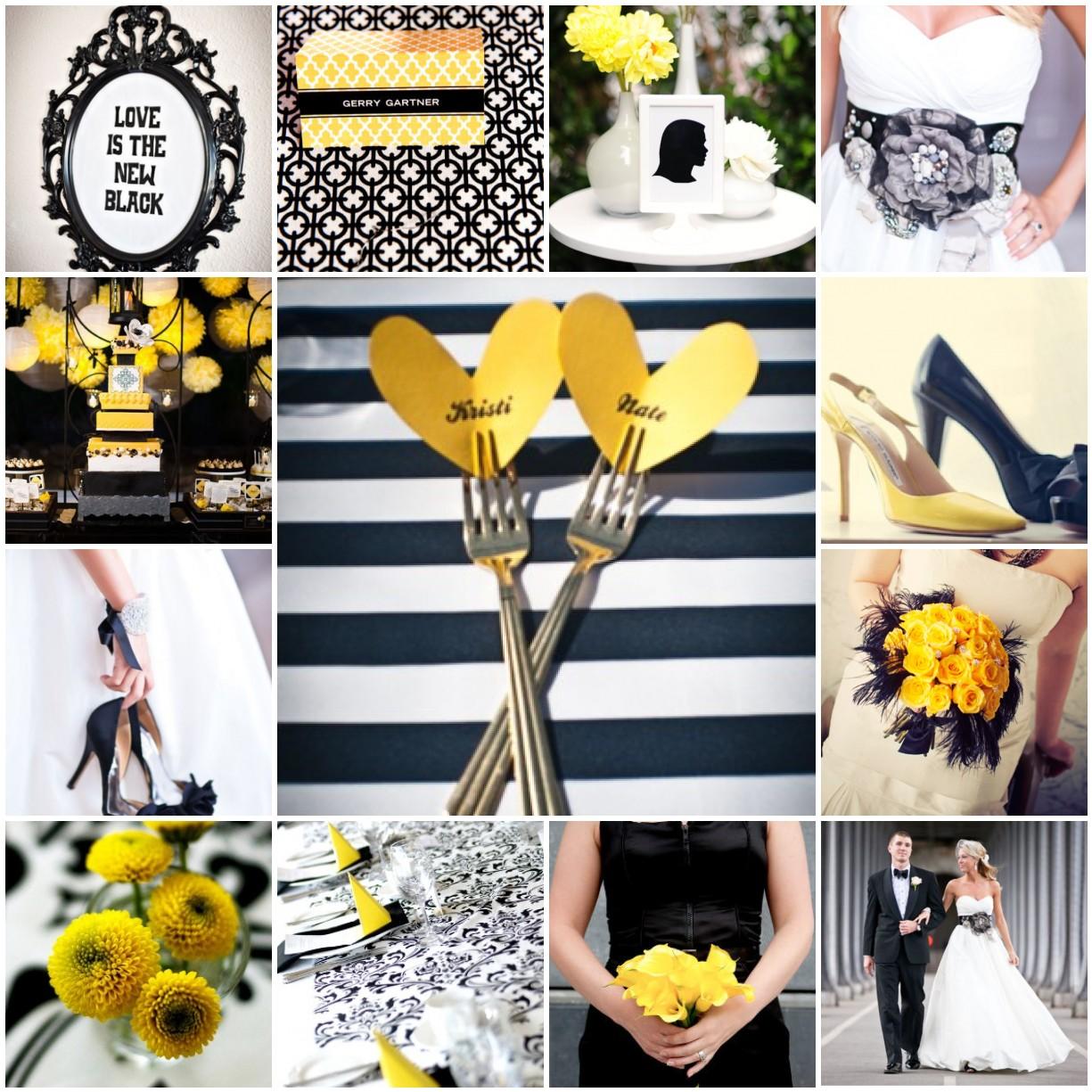 Black, White & Yellow   The Blushing Bride