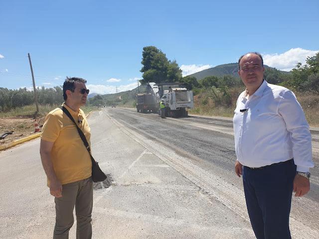 Εργασίες αποκατάστασης στην Παλαιά Εθνική Οδό Κορίνθου - Άργους