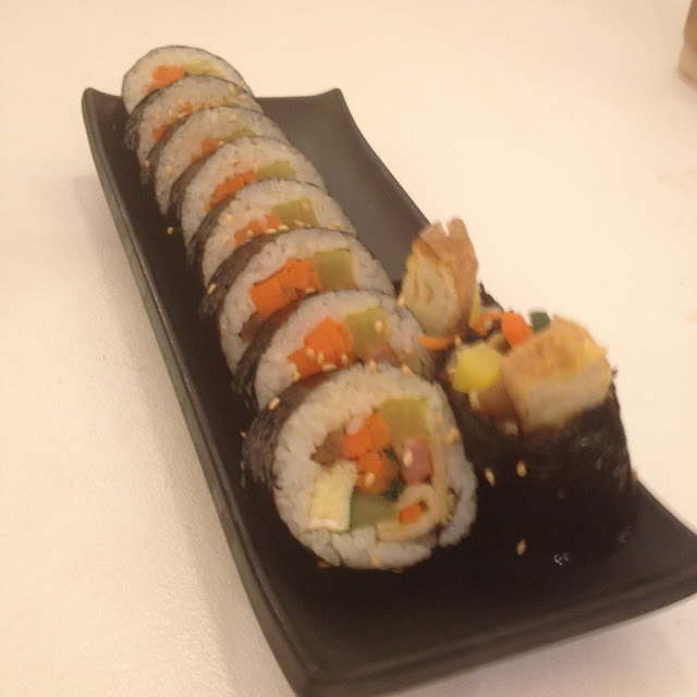 kimbap at Da Bang Cafe