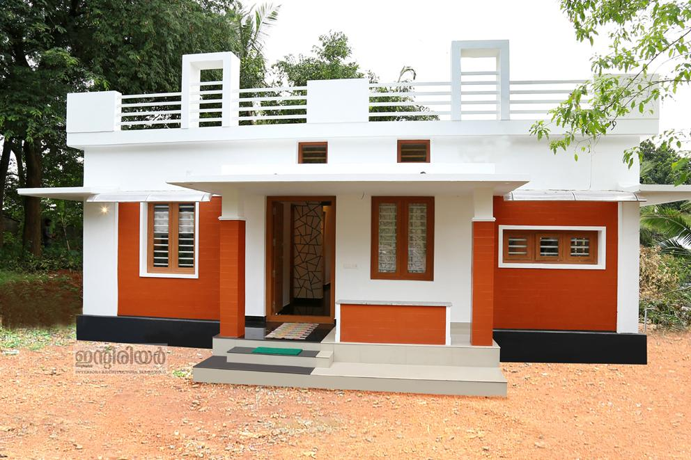 750 square feet 2 bedroom home for 12 lakhs in 4 cent plot Low budget house plans
