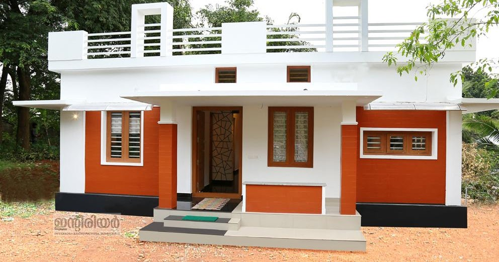 12 Lakh Home Design And Plan: 750 Square Feet 2 Bedroom Home For 12 Lakhs In 4 Cent Plot