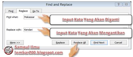 Cara Mudah Mengganti Kata Secara Otomatis Di Word