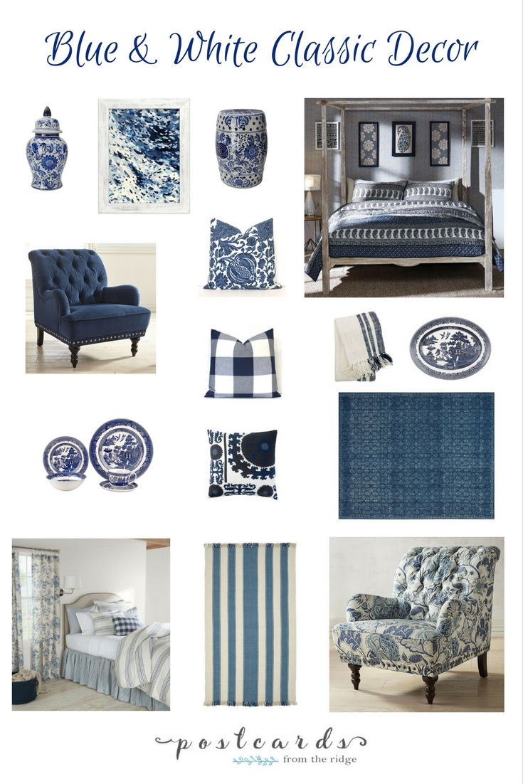 Love all these blue and white decor items. Lots of great ideas.