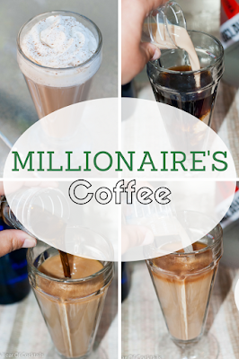 Millionaire's coffee is the BEST hot, flavorful cocktail that includes Irish cream liqueur, hazelnut liqueur & coffee liqueur.
