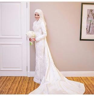 Baju Pernikahan Muslim Putih