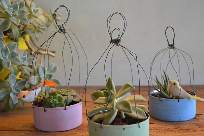 jaulas decorativas para plantas