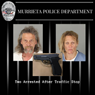 Police arrest two after traffic stop in south Murrieta