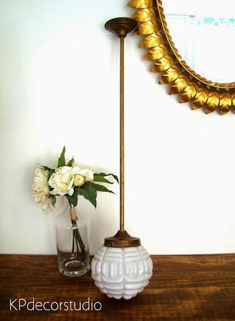 Comprar lámpara de techo colgante vintage años 50 de latón y bronce