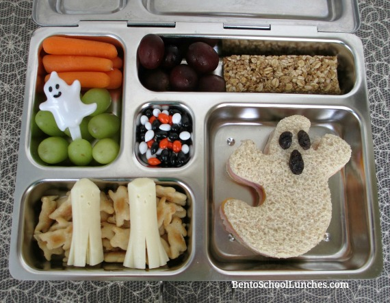 Ghost Halloween bento lunch in Planetbox