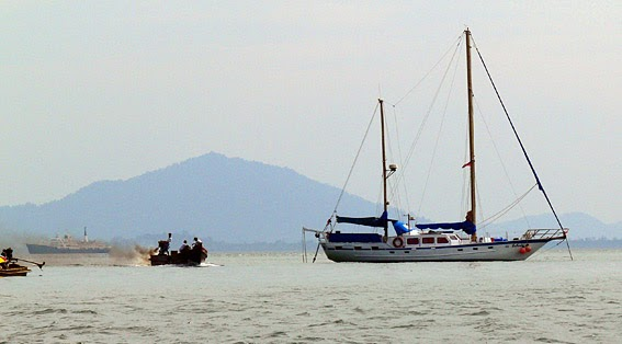 Live aboard yacht in the Andaman Sea