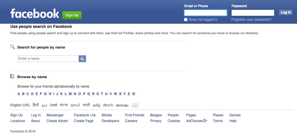 Facebook Search - Free Social Media Search Engine