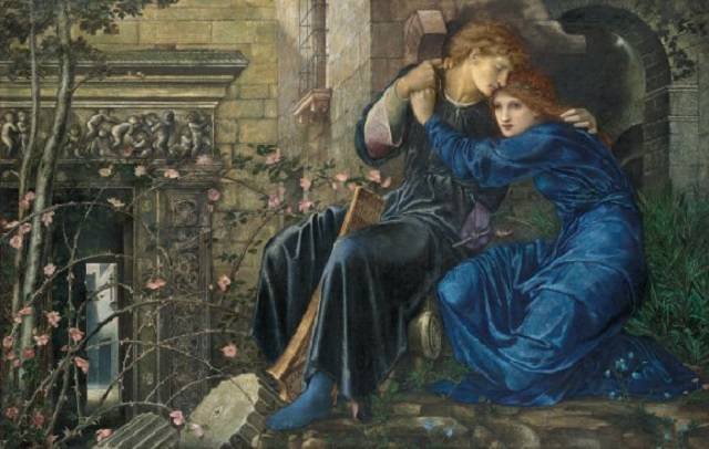 Love Among the Ruins by Sir Edward Coley Burne-Jones (1833-1898)