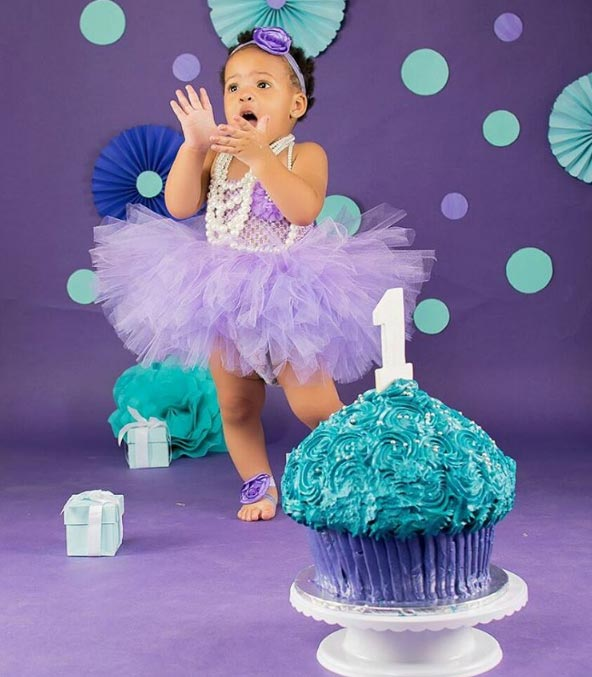 Aww! Anna Banna and Flavour N'abania's daughter turns one