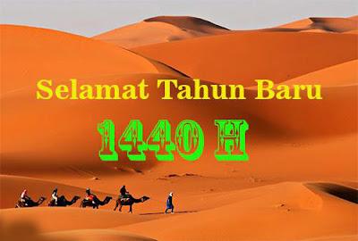 Tak dirasa hari berganti semakin cepat dan berganti dengan hari yang gres Gambar Kartu Ucapan  Tahun Baru Islam Pilihan