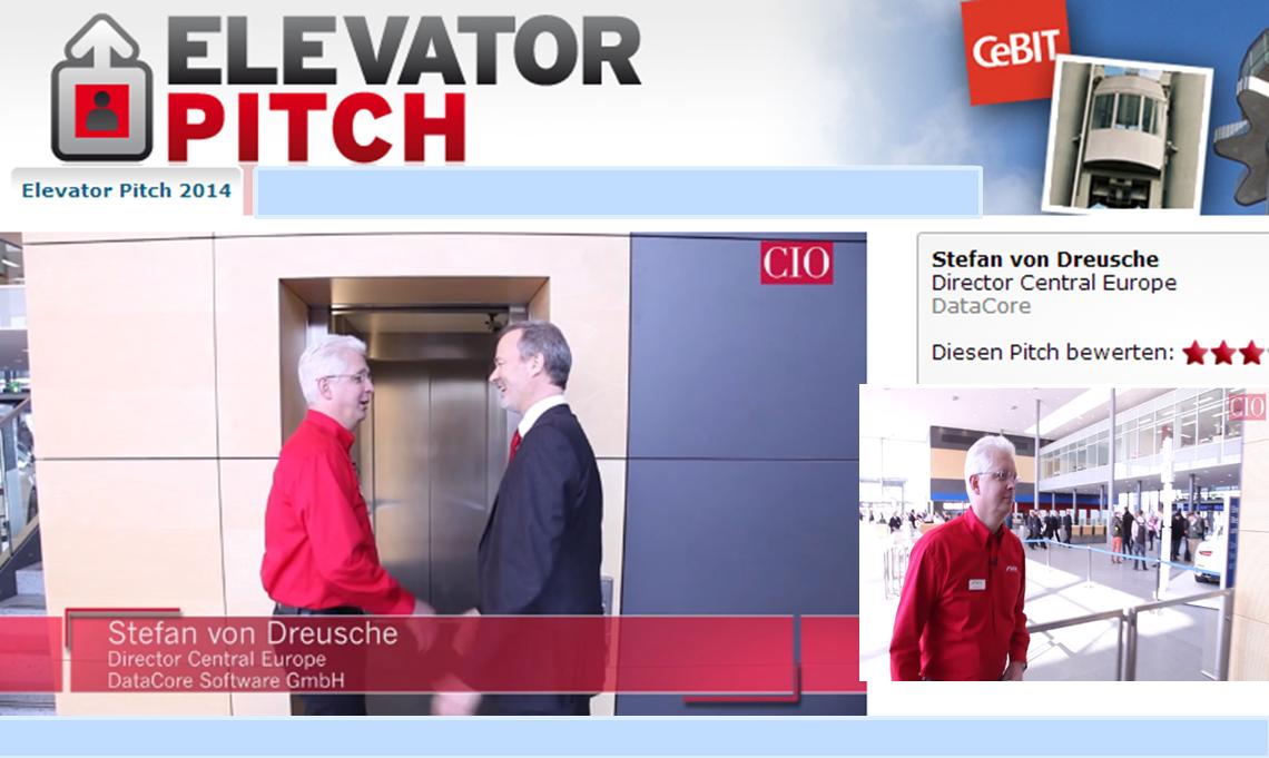CIO de Elevator Pitch ;Hardware ist passé ; mit Stefan von Dreusche ; DataCore Software defined Storage