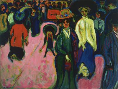 Ernst Ludwig Kirchner  - Rue à Dresde,1908