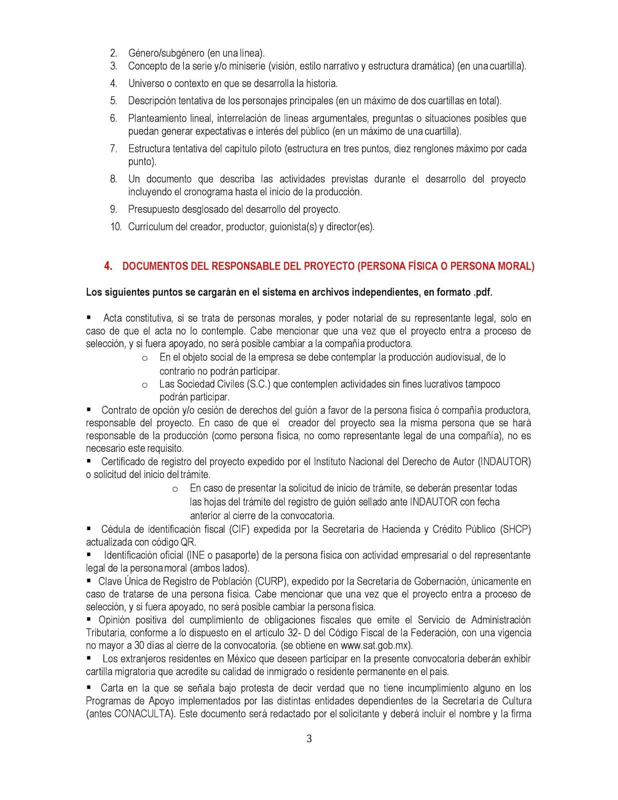 II Convocatoria para el desarrollo de proyectos de Series y ...